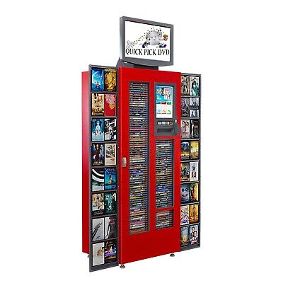DVD Blu-ray Rental Kiosk / Vending Machine holds up to 250 Movies!!!