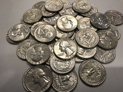 90% Silver Washington Quarters (dates ranging from 1961-1964) Roll of 40