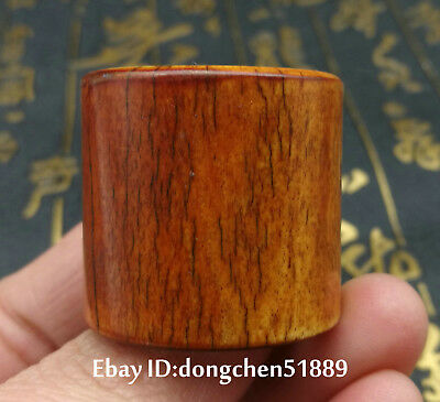 Rare Collect Chinese old bone hand carve man ring size10 china antique ring