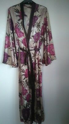 Ladys satin feel dressing gown; M&S Autograph; 14