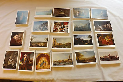 Job Lot 100 Art Postcards Old Masters Paintings 20 Different Postcrossing JB310