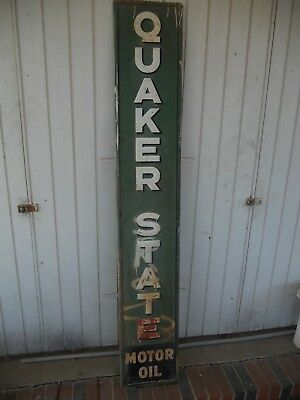 Vintage Verticle quaker state oil sign g 954
