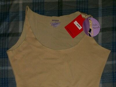 SPANX Hide N Sleek - Beige Shaping Camisole - LARGE - A52996 - NWT FREE SHIPPING