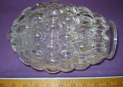 Vintage Clear Glass Textured Ceiling Lamp Light Shade Globe