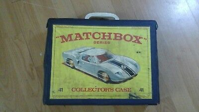 Vintage Lesney Matchbox Carry Case And 48 Superfast  Cars