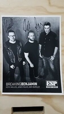 Breaking benjamin signed photo