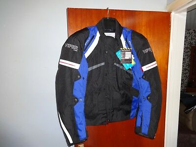 Viper Charger Textile Motorcycle Jacket Black/blue Large