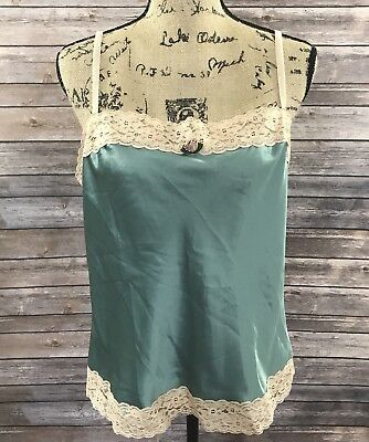 Victoria's Secret Women's Size Large Pink Label Green Camisole