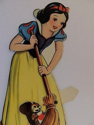 #484 1939 Snow White Mechanical Walt Disney W.d.p. Vintage Valentine Card
