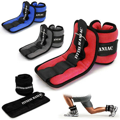 Wrist Ankle Weights Pair Adjustable Strap for Leg Arm Home Gym Exercise Running