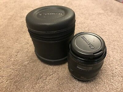 Canon Compact Macro EF 50mm 1:2.5 with caps and Canon Soft Case with caps