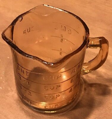 Very Early Pink Depression Glass 3-Spout 1-Cup 8oz Straight Sided Measuring Cup