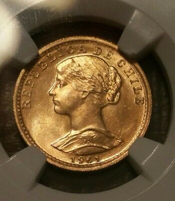 1961So Chile G20P NGC MS66 Low POP (Gold) ($$$ investment)