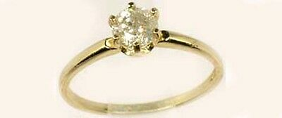 Diamond Gold Ring ½ct Antique 19thC Siberia Gem of Medieval Royalty Virtue 14kt