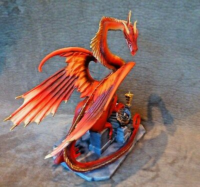 Smaug The Golden Dragon, Lord Of The Rings, Hobbit, Franklin Mint - W/box