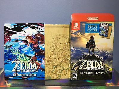 Legend of Zelda Breath Of The Wild Explorers Edition Collectibles Only - NO GAME