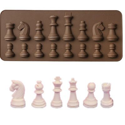 3D Silicone Chess Chocolate Ice Cube Mould Cake Decor DIY Baking Mold Kitchen