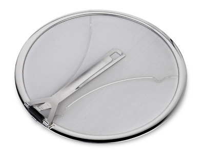 """Culina Premium 13"""" Stainless Steel Splatter Screen resting feet with Hinged Fold"""