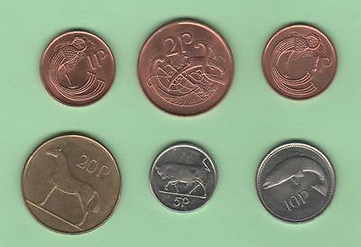 1995 - 1998 Ireland lot of 6 coins - AU