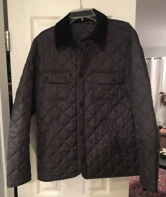 Barbour Men's Quilted Casual Jacket Gray Medium