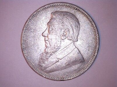 1896 2 schillings South Africa silver coin KM#6