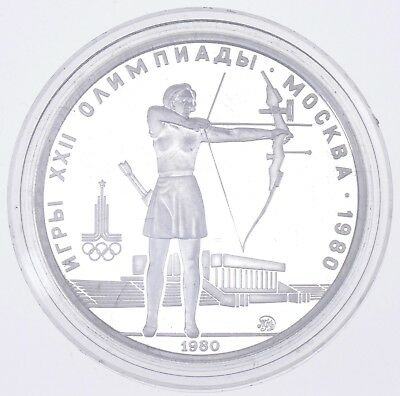 SILVER - Olympics 1980 Soviet Union 5 Rubles - World Silver Coin 16.3 Grams *254