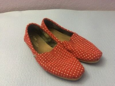 Red Polka Dot Toms Womans 9.5