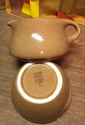 Vintage Iroquois Russel Wright Ripe Apricot Sugar and Creamer Great Condition!