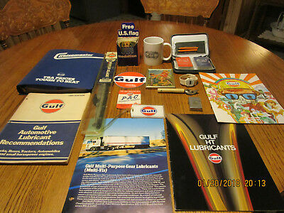 Gulf Oil Station Giveaway Collection Lot of 14+