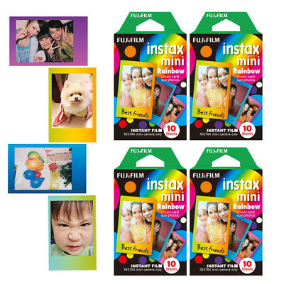 Rainbow Fujifilm Instax Mini 40 Sheets Film For Fuji 8 9 25 Instant Camera SP-2
