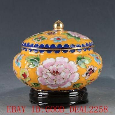 Chinese Cloisonne Hand Carved Flower Pot