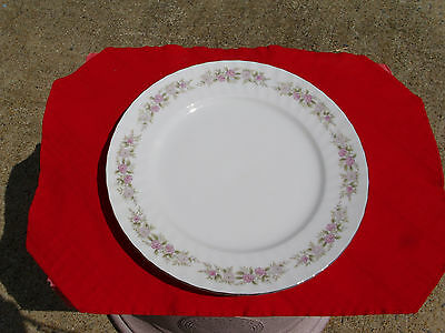 Eight Dansico Fine China Teahouse Rose Dinner Plates