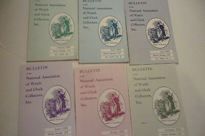 lot of all 7 NAWCC bulletins 1982; Railroad-Marked watch; Musical; Chronometer