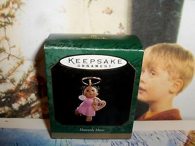 Heavenly Music`1997`Miniature-Angel Playing Harp For Christmas,Hallmark Ornament