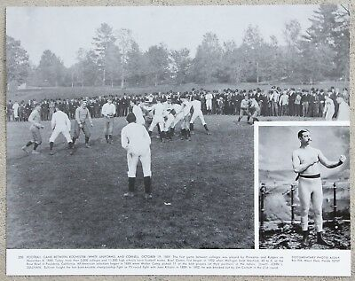 Vintage 11x14 Photograph Football Game Between Rochester & Cornell, Oct 19, 1889