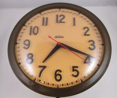 Vintage Sunbeam Electric Wall Clock With plug Tested/Working