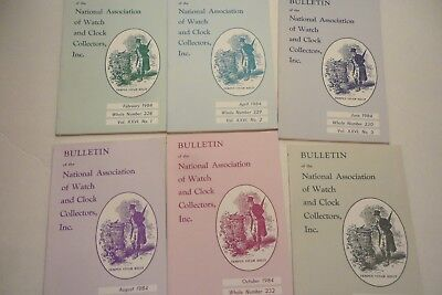 NAWCC BULLETIN Nat'l Assn of Watch Collector 6 of 1984, Replacing teeth & Verges
