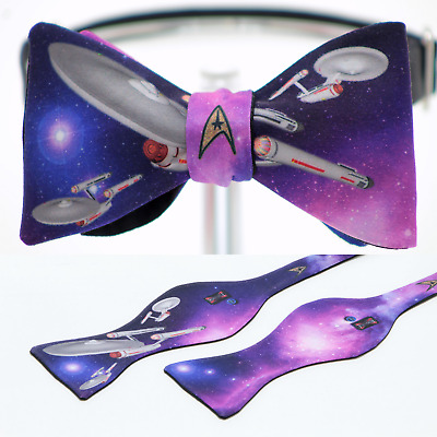 "UNIQUE DESIGNER BOW TIE - ""Star Trek"" Themed - Handmade by Remarkable Bowties"