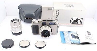 N MINT IN BOX Contax G1 Rangefinder w/ 45mm,90mm 2Lens Case TLA140 from Japan