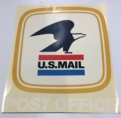 Vintage US Mail Post Office Sticker Decal Collectible 9 X 10 Sheet 1972