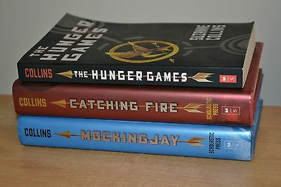 Complete The Hunger Games Trilogy by Suzanne Collins 2 Hardcover 1 Paperback