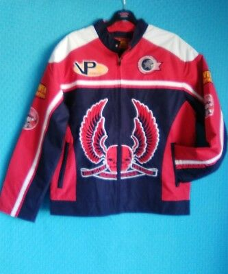 NWT RACING BIKERS LOGO DETAILED JACKET SIZE MED PIT to PIT 44""