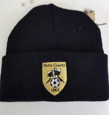 Notts County wooly HAT Beanie hat The Magpies