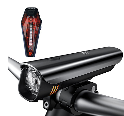 Light Super Bright Cree LED Bike Front Headlight USB Rechargeable Rear Tail Set.