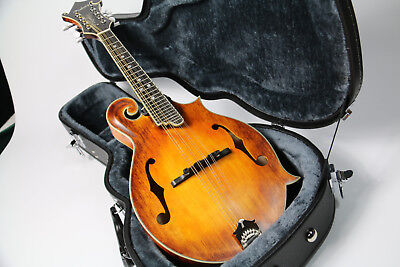 High-End Handmade Full Solid Flamed Maple Vintage F Style Mandolin Oil Finish