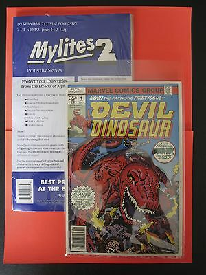 MYLITES2 x 50.STANDARD COMIC BOOK SIZE 7.25'' x 10.5''.MYLAR COMIC BAGS/SLEEVES.