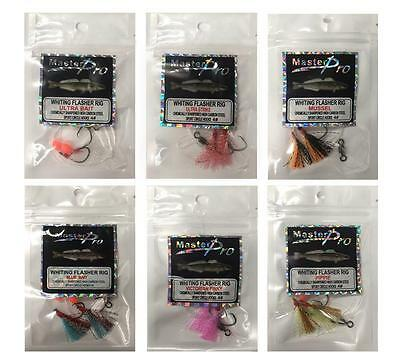 6 x Custom Designed Fishing Whiting Rigs 6 Different Colours,Fishing Tackle