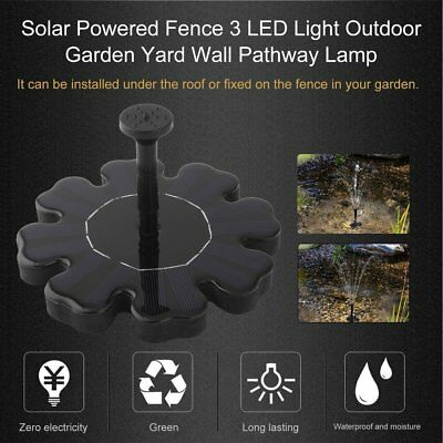 Flower Solar Pump Fountain Solar Bird Bath Pump Water Pump for Garden Patio EA