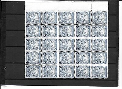 BARBADOS 1938  21/2d value  SG251  unmounted block of 25