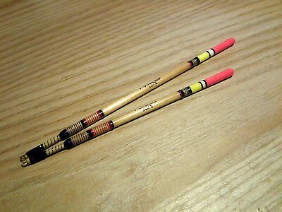 Set Of 2 Traditional Hand Made Still Water Reed Waggler Fishing Floats